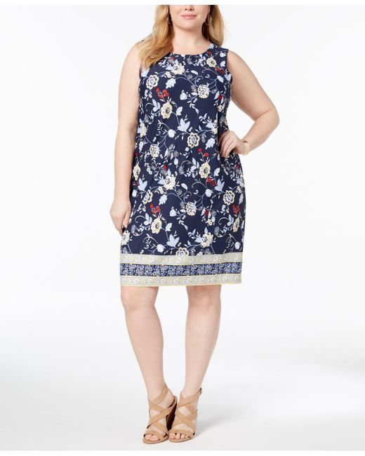 Lyst Charter Club Plus Size Floral Print Sheath Dress Created For