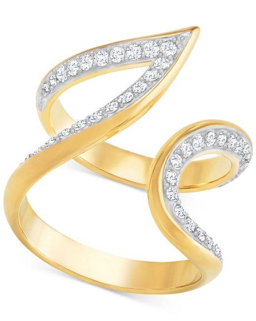 Swarovski   Metallic Gold-tone Contoured Pavé Ring   Lyst