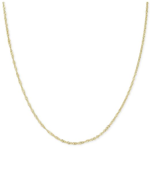 """Macy's - Metallic 18"""" Tri-color Singapore Chain Necklace (2-5/8mm) In 14k Gold, White Gold & Rose Gold - Lyst"""