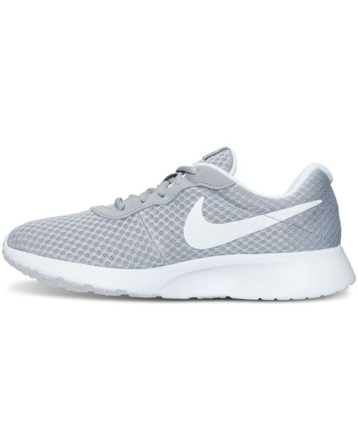 daea2b095505a ... Lyst Nike - Gray Women s Tanjun Casual Sneakers From Finish Line ...