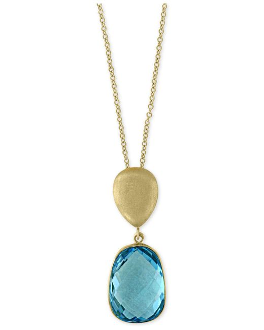 Effy Collection - Metallic Blue Topaz Pendant Necklace (8-1/6 Ct. T.w.) In 14k Gold - Lyst