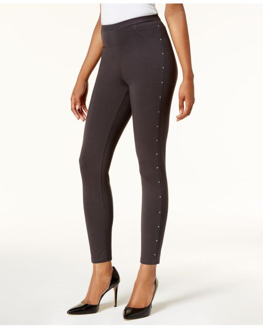 Style & Co. | Gray Embellished Leggings | Lyst