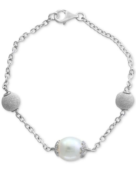 Effy Collection | Metallic Cultured Freshwater Pearl (11mm) Link Bracelet In Sterling Silver | Lyst