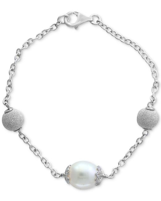Effy Collection - Metallic Cultured Freshwater Pearl (11mm) Link Bracelet In Sterling Silver - Lyst