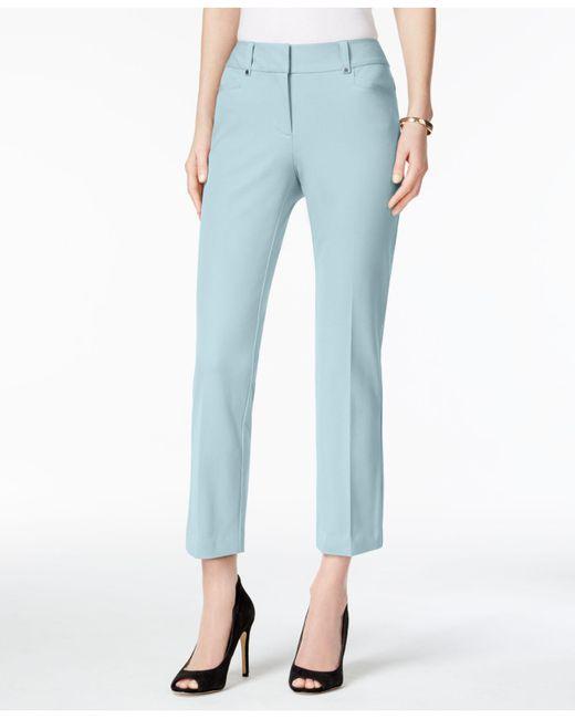 Alfani   Blue Petite Skinny Capri Pants   Lyst