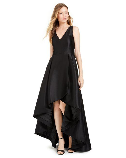 Calvin Klein Black High-low A-line Gown