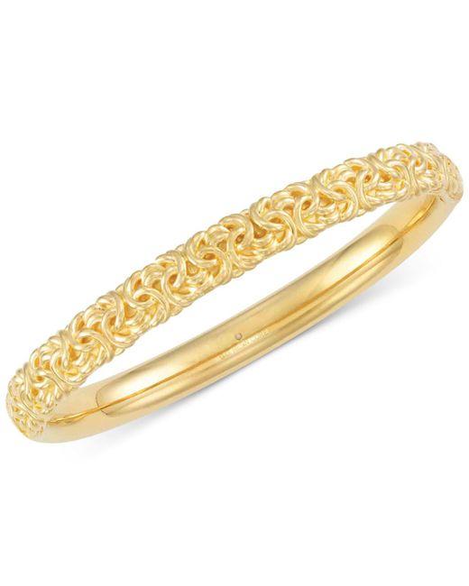 Signature Gold | Metallic Byzantine Bangle Bracelet In 14k Gold Over Resin | Lyst