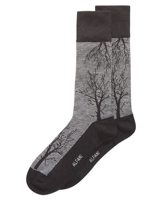 Alfani - Gray Tree-branch Printed Socks, Created For Macy's for Men - Lyst
