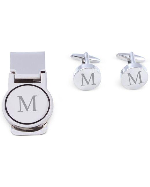 Bey-berk - Metallic Men's Monogrammed Cuff Links & Money Clip Set for Men - Lyst