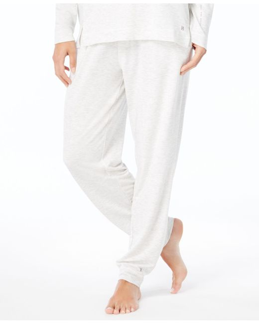 Hue | White French Terry Cuffed Pajama Pants | Lyst