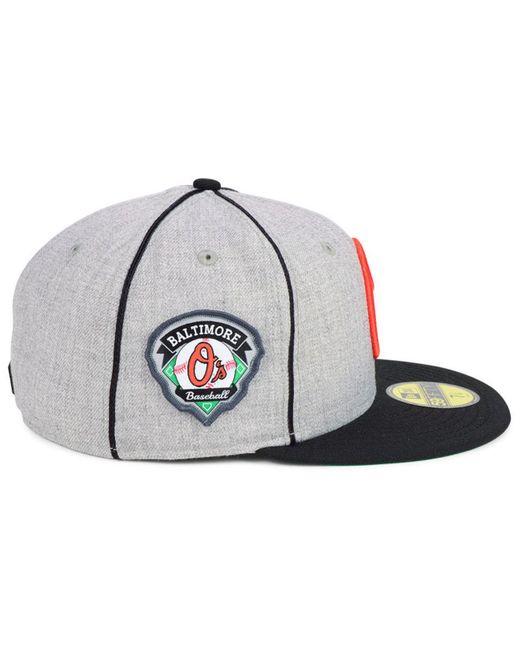 ce1b4774e ... KTZ - Multicolor Baltimore Orioles Stache 59fifty Fitted Cap for Men -  Lyst ...