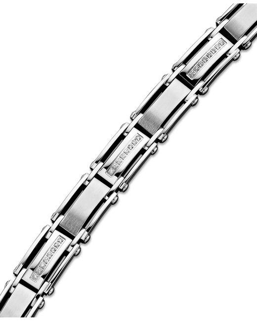 Macy's - Multicolor Men's Diamond Bracelet In Stainless Steel (1/2 Ct. T.w.) - Lyst