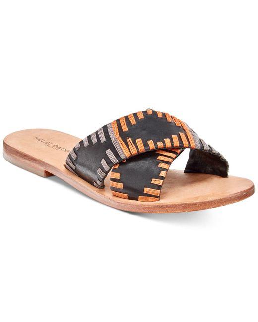 Kelsi Dagger Brooklyn   Black Crown Flat Sandals   Lyst