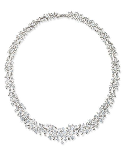 Danori | Metallic Silver-tone Cubic Zirconia All-around Collar Necklace | Lyst