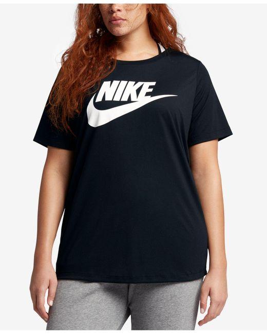 a1b5c1704 Nike - Black Plus Size Futura T-shirt - Lyst ...