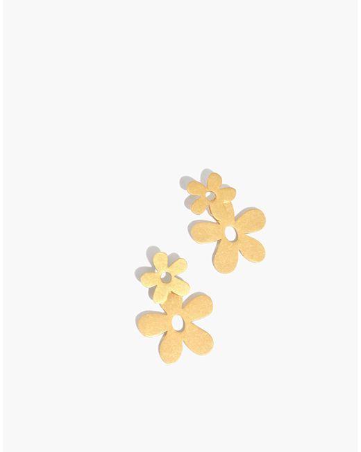 Madewell - Metallic Daisy Statement Earrings - Lyst