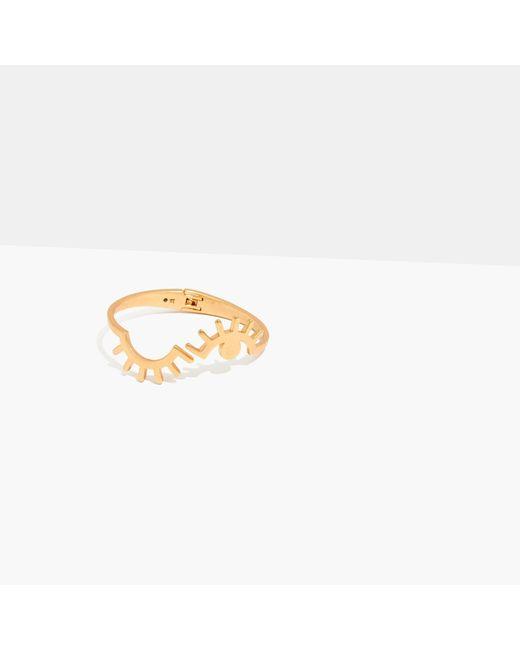 Madewell | Metallic Looker Hinge Cuff Bracelet | Lyst