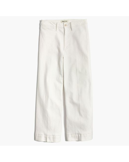 Madewell - Emmett Wide-leg Crop Jeans In Tile White - Lyst