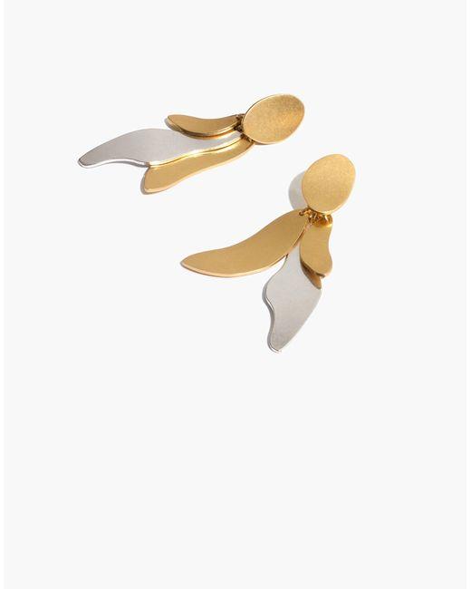 Madewell - Metallic Petalwing Statement Earrings - Lyst