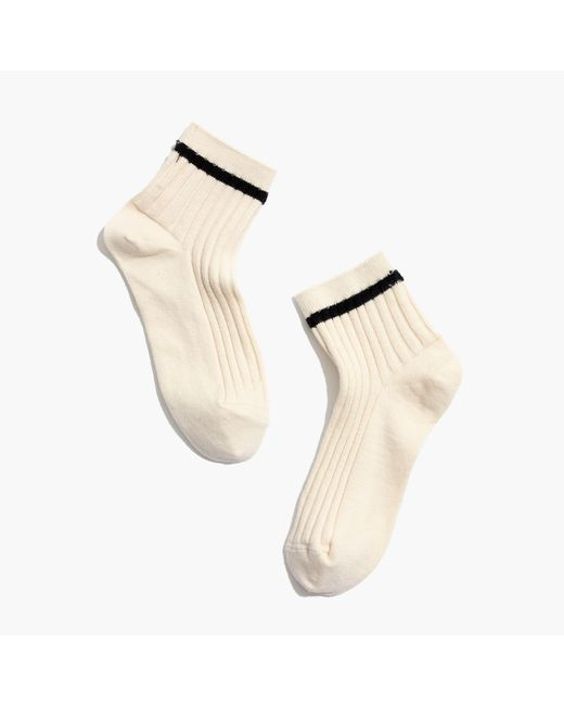 Madewell   Black Border-stripe Ankle Socks   Lyst