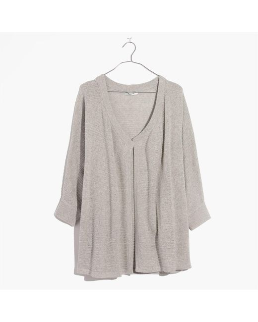 Madewell   Gray Seabank Cardigan Sweater   Lyst