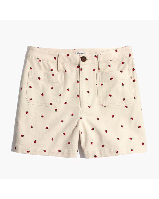 Madewell - Multicolor Emmett Shorts In Fresh Strawberries - Lyst