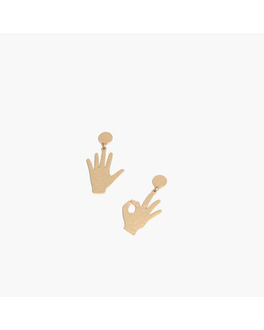 Madewell - Metallic Hand Jive Statement Earrings - Lyst