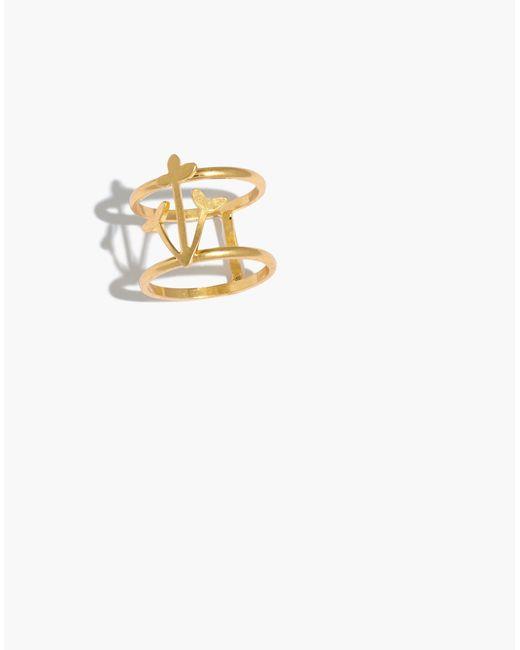 Madewell - Metallic Daisy Double Ring - Lyst