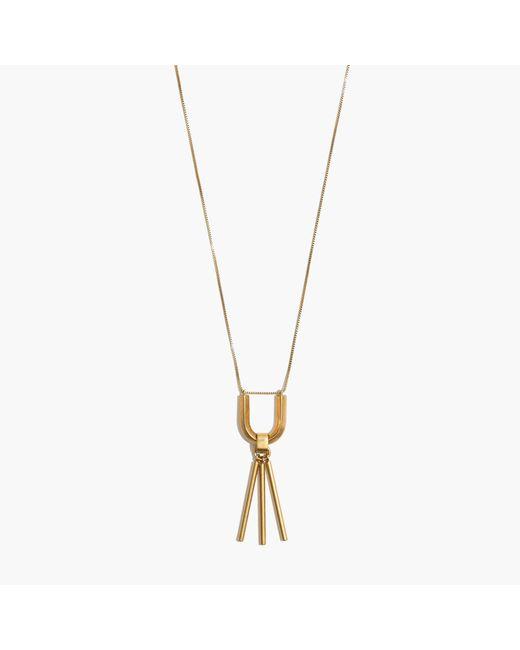 Madewell | Metallic Curvelink Pendant Necklace | Lyst