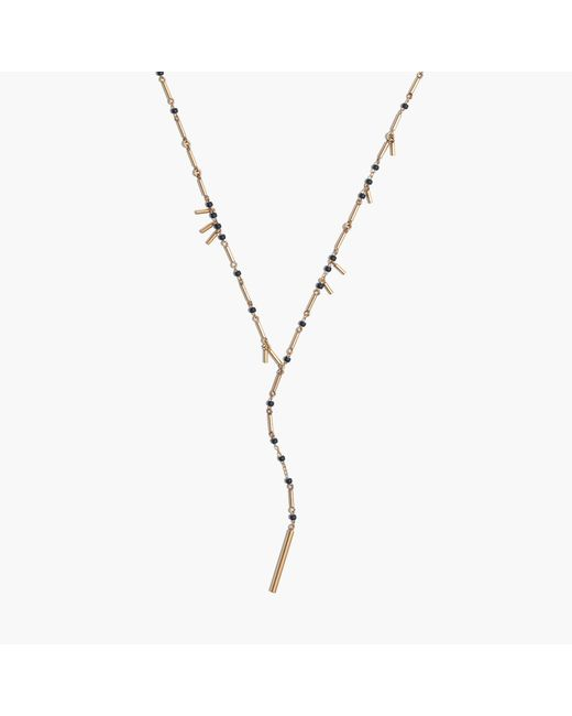 Madewell | Metallic Beaded Lariat Necklace | Lyst