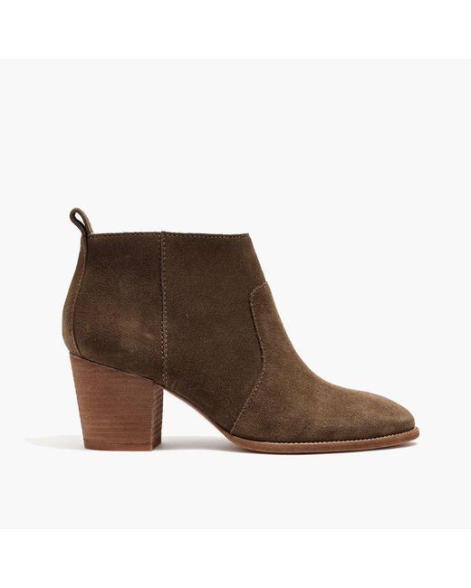 Madewell | Brown The Brenner Boot In Suede | Lyst