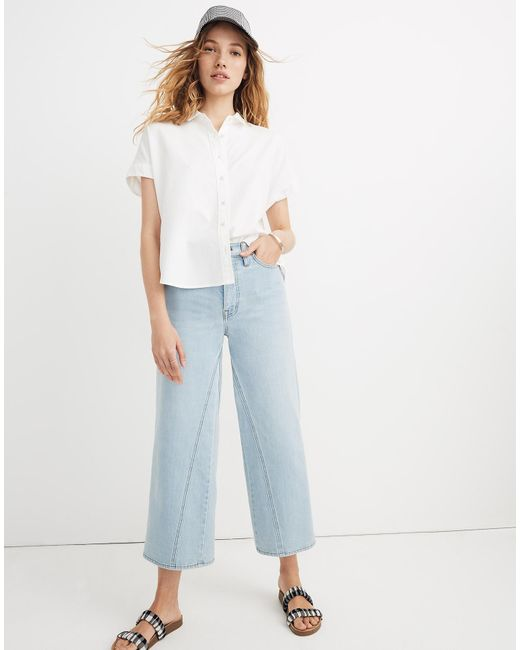 c00ad82c ... Madewell - White Cropped Button-down Shirt - Lyst ...