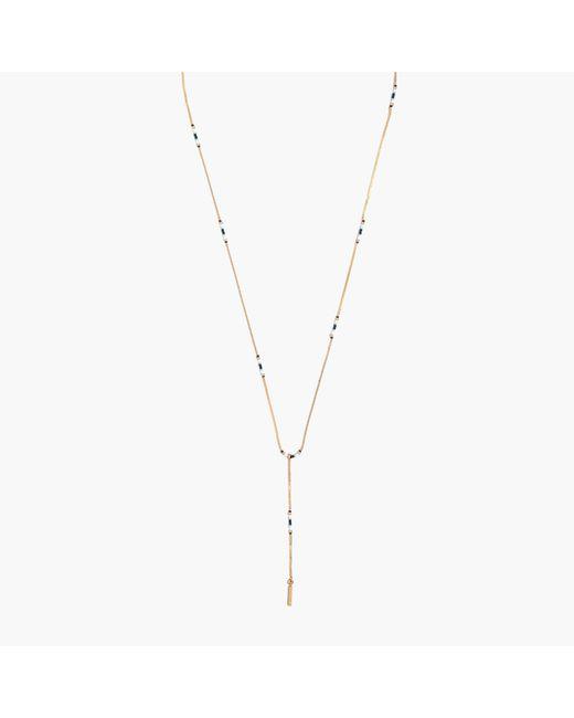 Madewell - Metallic Beaded Lariat Necklace - Lyst