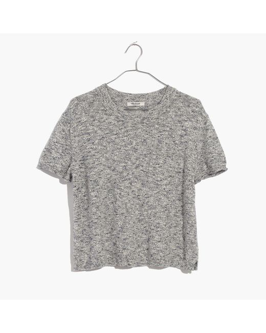 Madewell - Gray Pocket Tee Sweater - Lyst