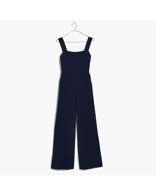 Madewell | Blue Apron Bow-back Jumpsuit | Lyst