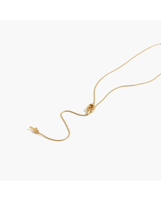 Madewell | Metallic Knotshine Necklace | Lyst