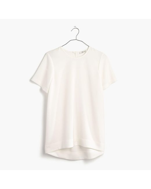 Madewell | White Tailored Tee | Lyst