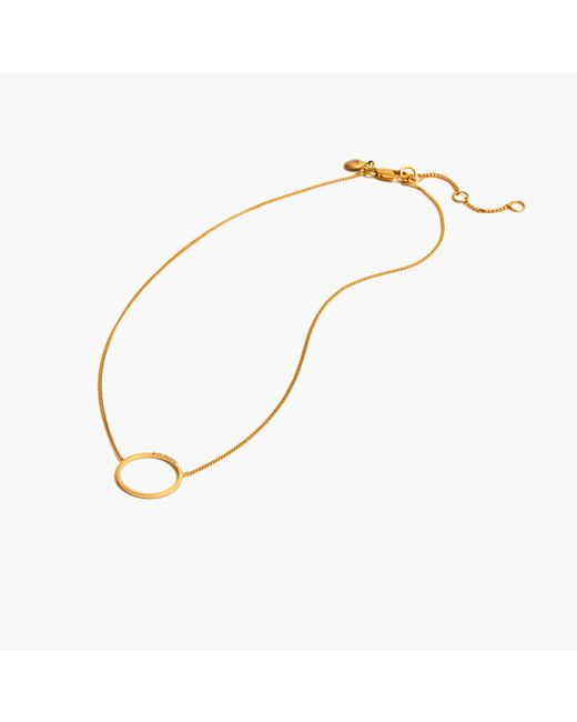 Madewell | Metallic Luster Circle Necklace | Lyst