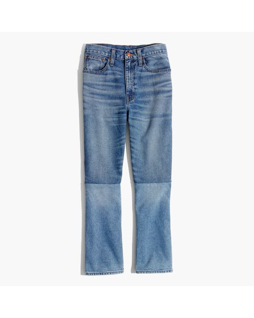 Madewell | Blue Retro Crop Bootcut Jeans: Two-tone Edition | Lyst