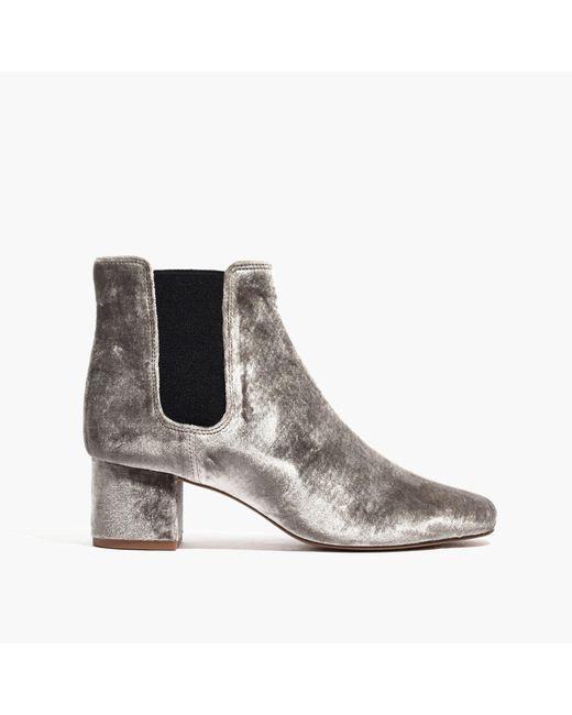 Madewell | Multicolor The Walker Chelsea Boot In Velvet | Lyst