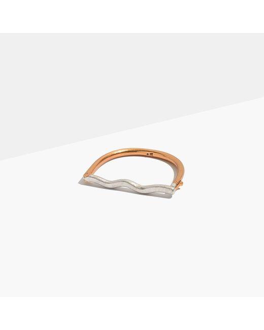 Madewell   Metallic Modernism Bar Bracelet   Lyst
