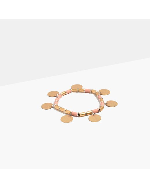 Madewell | Multicolor Beaded Disc Bracelet | Lyst