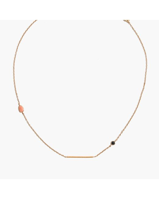 Madewell | Metallic Tiny Jewels Stone-mix Necklace | Lyst