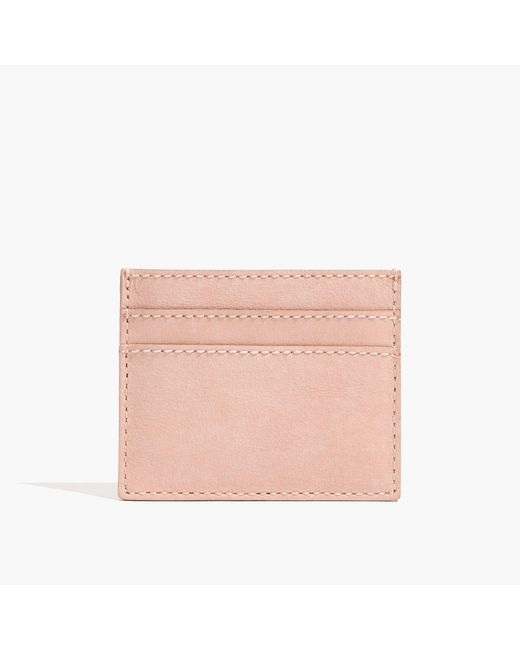 Madewell | Pink The Leather Card Case | Lyst