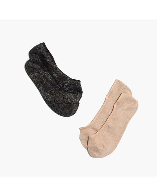 Madewell | Metallic Two-pack Night Sparkle Low-profile Socks | Lyst