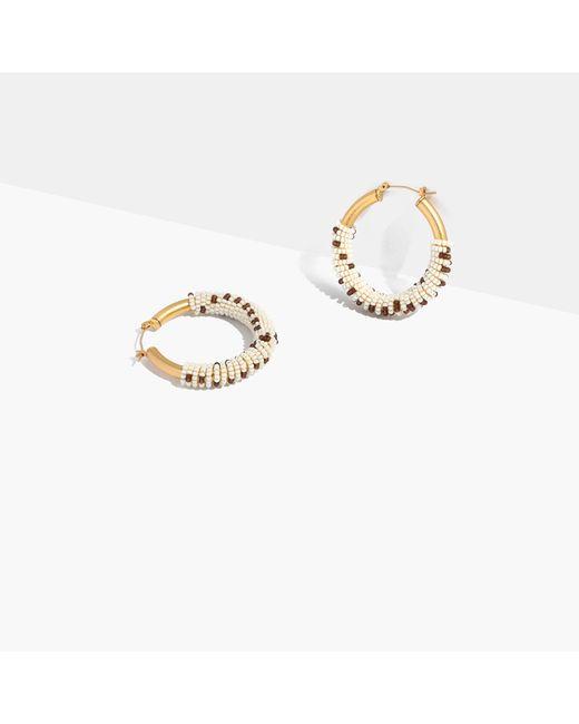 Madewell | Metallic Bead-wrapped Hoop Earrings | Lyst