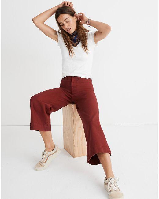 Madewell - Red Tall Emmett Wide-leg Crop Pants - Lyst