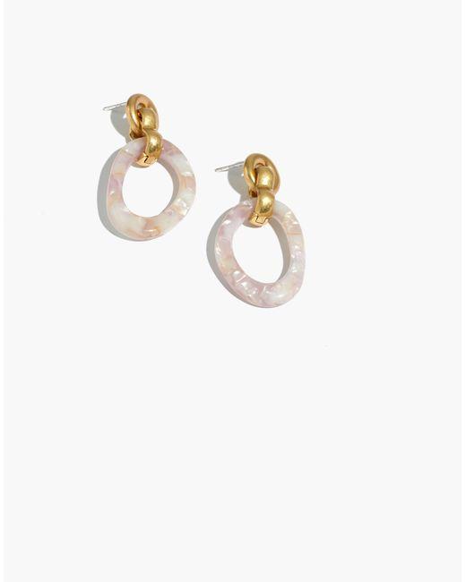 Madewell - Metallic Marbled Resin Hoop Earrings - Lyst