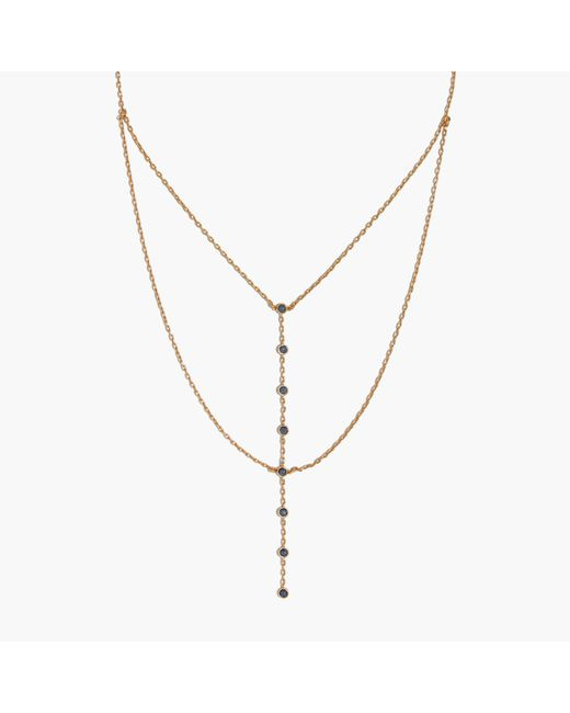 Madewell | Metallic Nuit Layered Lariat Necklace | Lyst