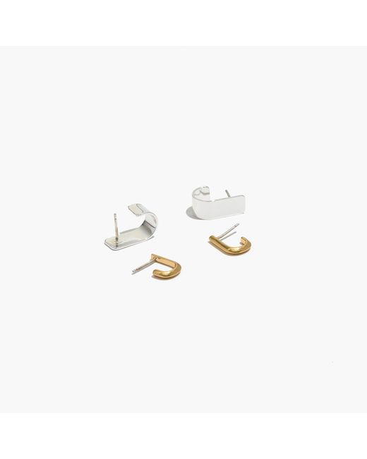 Madewell | Metallic Two-pack Hug Earrings | Lyst